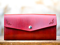 Peňaženky - Vintage peňaženka červená - 7261893_