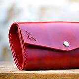 Peňaženky - Vintage peňaženka červená - 7261895_