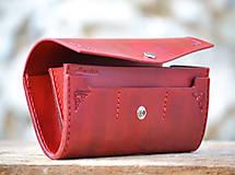 Peňaženky - Vintage peňaženka červená - 7261898_