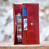 Peňaženky - Vintage peňaženka červená - 7261901_
