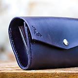 Peňaženky - Vintage peňaženka Navy blue - 7261915_
