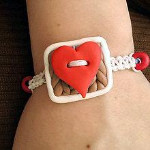 Náramky - Shamballa náramok srdce NA ZÁKAZKU - 7261653_
