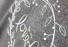 Tričká - Dámske tričko sivé BAMBUS 04 biela potlač LOVED - 7259824_