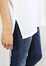 Tričká - Dámske tričko biele BAMBUS 06 zlatá potlač SHALOM - 7259903_