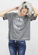 Tričká - Dámske tričko sivé BAMBUS 02 potlač TRPEZLIVÁ LÁSKA - 7261625_