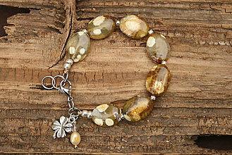 Náramky - Boho náramok oceánový jaspis - 7263416_