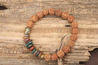 Šperky - Náramok rudraksha a indický achát - 7266129_