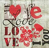 Papier - S820 - Servítky - love, láska, srdce, heart, kvet - 7264300_