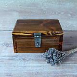 Krabičky - Drevená truhlička - 7263875_