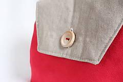 Taštičky - Kozmetická taška s gombíkom - 7263773_