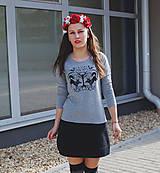 Šaty - Tričkošaty Black foxes (dlhý rukáv) - 7263529_