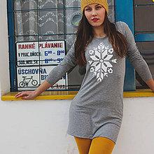 Šaty - Tričkošaty Snowflake (dlhý rukáv) - 7263467_