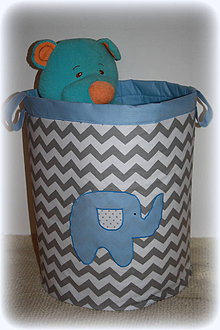Detské doplnky - úložný box na hračky, sloník 50X40 - 7263897_
