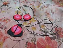 Sady šperkov - Čierno červený set - 7265734_