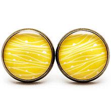 Náušnice - Žlté prelínanie - 7266216_
