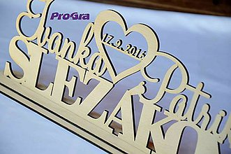Tabuľky - Svadobný stojanček - Mená + Priezvisko - 7263435_