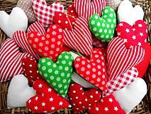 - Šťastné a ... Farebné, ozdoby na vianočný stromček SRDIEČKA - 7263323_