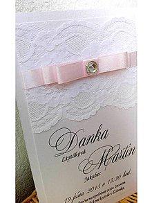 Papiernictvo - svadobné oznámenie 201 - 7263540_