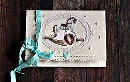 Papiernictvo - Retro obálka na peniaze detská - 7265335_
