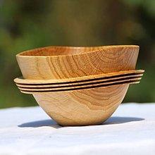 Nádoby - miska z dubového dreva - 7264965_