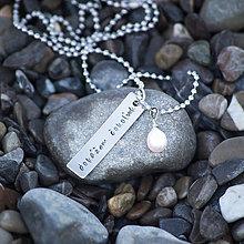 Náhrdelníky - Motivačný náhrdelník s perlou - zľava 8€ - 7263598_