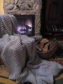 Úžitkový textil - Deka ku krbu - prikrývka, prehoz - 7266142_