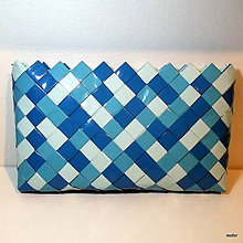 Kabelky - modrá listovka - 7265927_