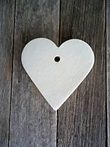 Srdiečko biele - materiál
