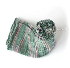 Iné doplnky - Pletené štucne z ručne farbenej vlny - MIMOSA - 7268521_
