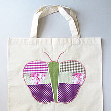Nákupné tašky - Taška na motýle - 7268162_