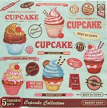 Papier - S823 - Servítky - cupcake, muffin, koláčik, cake - 7267792_