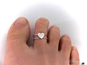 Prstene - Strieborný 925 prstýnek na nohu - 7267757_
