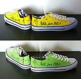 Obuv - žlté a zelené tenisky - 7267573_