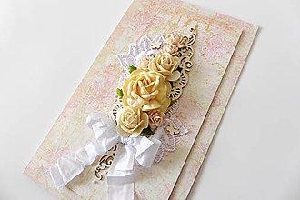 Papiernictvo - pohľadnica svadobná - 7267488_