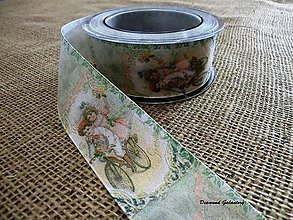 Galantéria - Ozdobná stuha 40 mm - Vintage - 7268613_