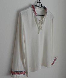 Košele - Chlapčenská Folk košeľa ručná výšivka - 7269815_