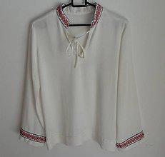 Košele - Chlapčenská Folk košeľa ručná výšivka - 7269821_