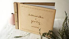 - Svadobná kniha drevo, papier a koža - 7269684_