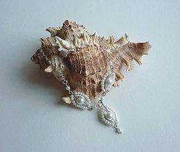 Náhrdelníky - Biely perličkový náhrdelník - 7269613_