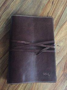 Iné tašky - Kožený obal na fotografie, veľkosti A4 - 7270121_