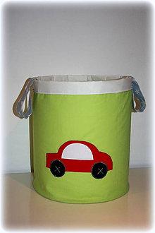 Detské doplnky - box na hračky, autičko 30X30 - 7269060_