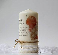 Svietidlá a sviečky - Dekoračná sviečka k narodeniu dieťatka - 7269043_
