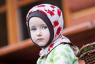 Detské čiapky - Merino kukla obojstranná 0-3měsíce: vel.0 - 7267535_