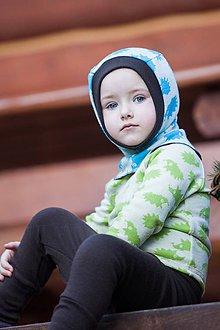 Detské čiapky - Merino kukla obojstranná 3-18mesiacov: vel.1 - 7267561_