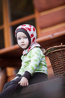Detské čiapky - Merino kukla obojstranná od 18měsíců: vel.2 - 7267576_