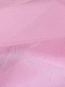 Textil - Tyl jemný - ružový (šírka 275 cm) - 7268747_