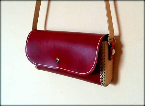 f5dc3d0cf Ručne šitá kožená kabelka MINI ,,René