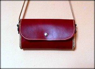 Kabelky - Ručne šitá kožená kabelka MINI ,,René\