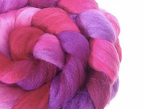 Iný materiál - Farebné merino - Ružová a fialová - 7268785_
