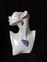 Sady šperkov - Ružovo - tyrkysové potešenie - 7270687_